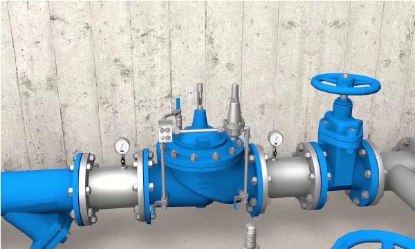 Van giảm áp nước trong hệ thống xử lý nước thải