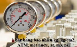 Quy đổi đơn vị đo áp suất (bar)