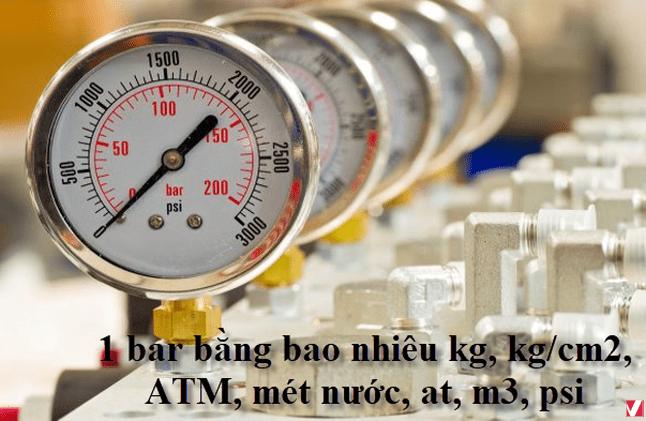 Quy Đổi Các Đơn Vị Đo Áp Suất   Bar Psi Atm Kpa Kg/cm2 mmH2O