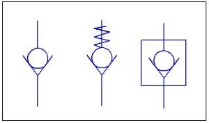 Ký hiệu van một chiều trong bản vẽ kỹ thuật