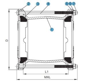 Cấu tạo của khớp nối EE kết nói đường ống nước