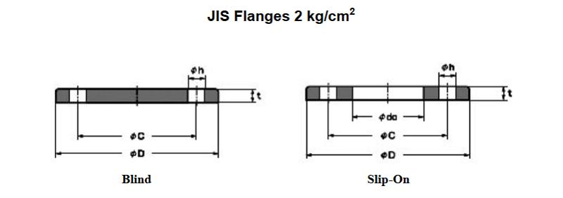 Tiêu chuẩn mặt bích JIS 2K
