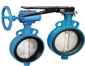 Van bướm Butterfly valves được dùng trong các hệ thống công nghiệp ngành nước