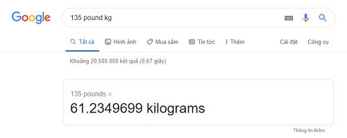 Quy đổi giá trị pound sang kilogam