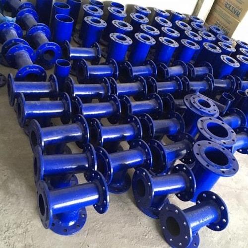 Sản phẩm phụ kiện đường ống bằng chất liệu gang cầu