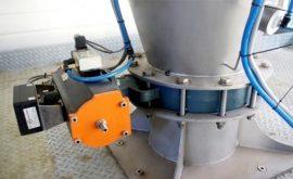 Van bướm xi măng điều khiển khí nén lắp đặt silo