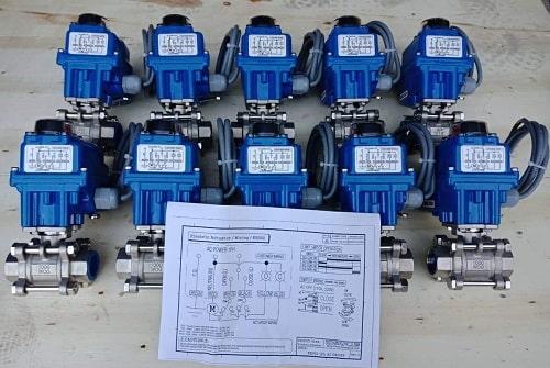 Van nước đóng mở bằng điện
