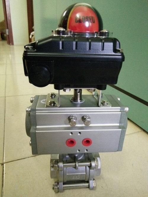 Van bi điều khiển khí nén Haitima có kèm công tắc giám sát